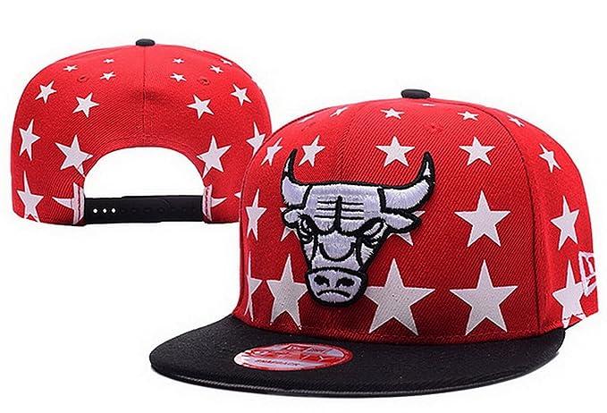 Béisbol Chicago Bulls Gorra rojo 3- Sr./Sra personalizado logotipo Snapback sombreros casquillo