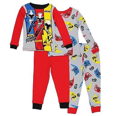 Saban Power Rangers Power Rangers Boys 4 piece Pajamas Set (Little Kid Big  Kid 72ca31656