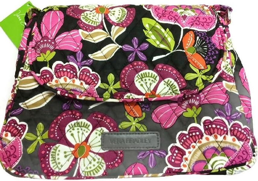 Vera Bradley Medium Flap Crossbody Messenger Bag Shoulder Bag in Pirouette  Pink 93c8f304e442f