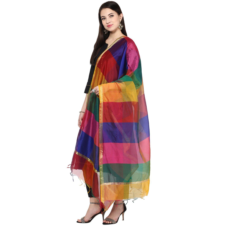 Dupatta Bazaar Women's Multicoloured Silk Dupatta