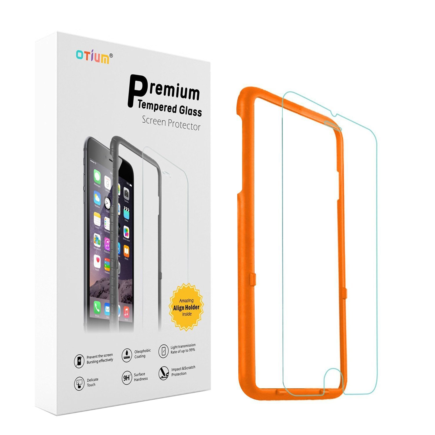 iPhone 6 6s Screen Protector Otium Tempered Glass Amazon Electronics