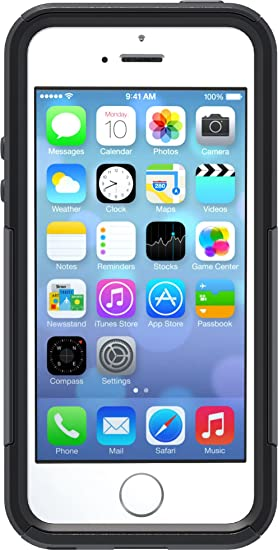 10a06cadd Image Unavailable. Image not available for. Color: OtterBox COMMUTER SERIES  Case for iPhone 5/5s/SE ...