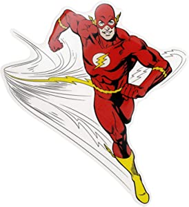 Fan Emblems The Flash Character Car Decal Domed/Multicolor/Clear, Classic DC Comics Justice League Automotive Emblem Sticker Applies Easily to Cars, Trucks, Motorcycles, Laptops, Windows, etc.