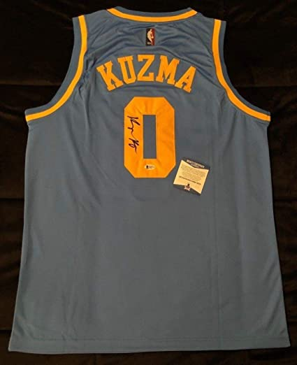 detailed look 2ed07 2de2b Kyle Kuzma Autographed Signed Mlps Lakers Basketball Jersey ...