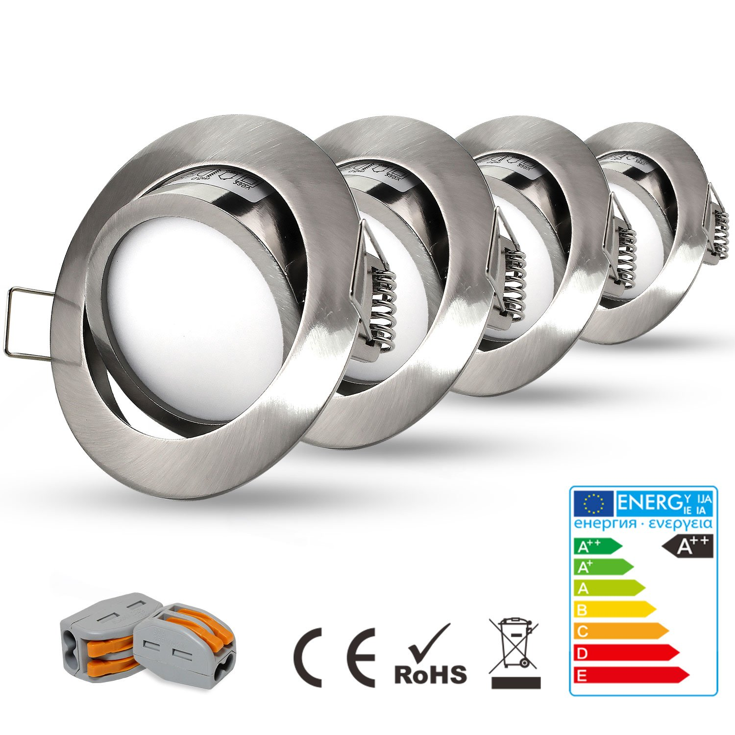 HiBay Ultra Flach LED Einbaustrahler - Tolles Design - Naturalweiss ...