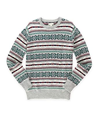 Amazon.com: Sonoma Life+Style Mens Fair Isle Crew Pullover Sweater ...