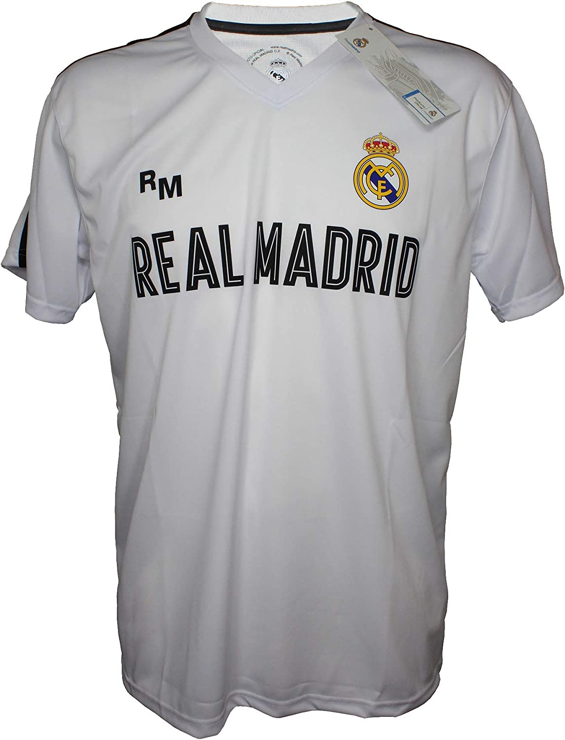 Camiseta Attack Infantil Real Madrid Producto Oficial Blanco ...