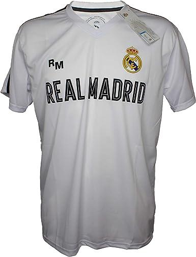 Camiseta Attack Infantil Real Madrid Producto Oficial Blanco - Primera Equipacion: Amazon.es: Ropa y accesorios