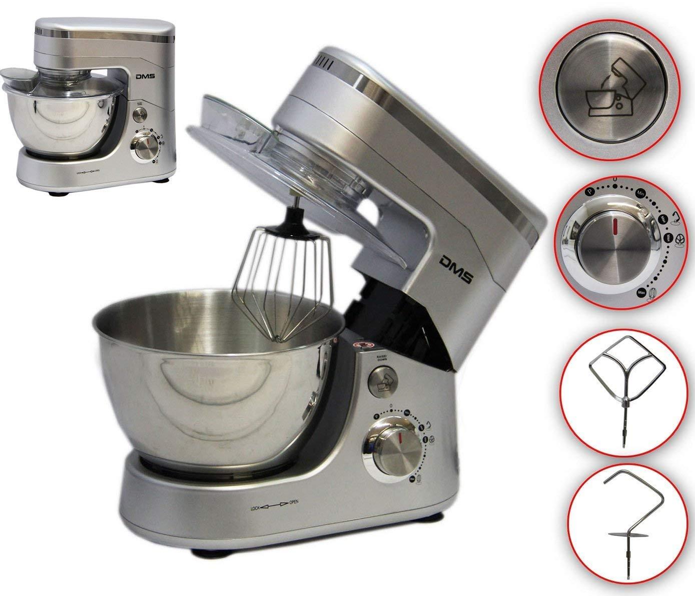 DMS Küchenmaschine Rührmaschine Knetmaschine Teigkneter Schwarz 5L 1400 W