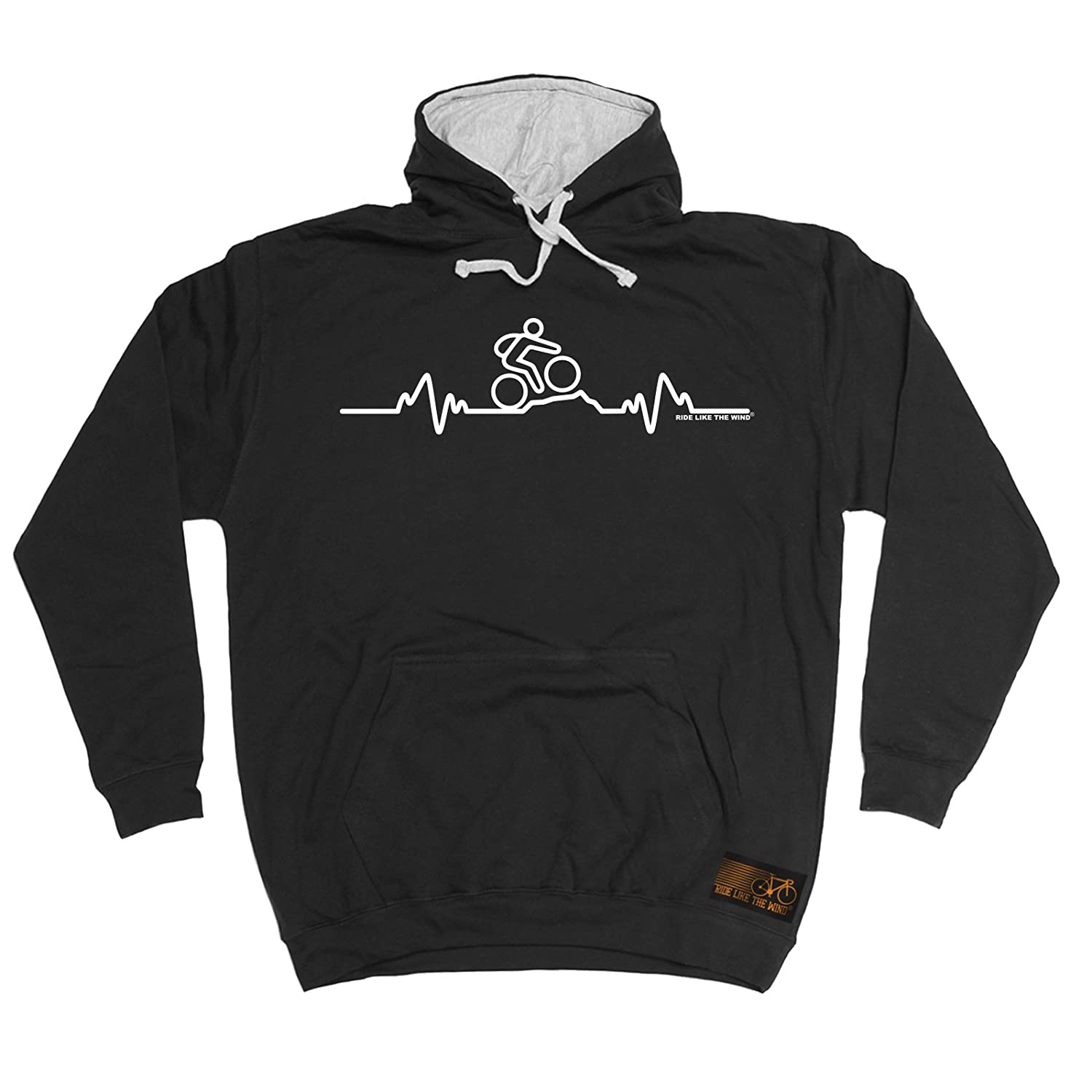 Mountain Bike Pulse - HOODIE / hoody / fashion funny cycling cycle bike top great gift presents accessories for him and her for christmas birthday