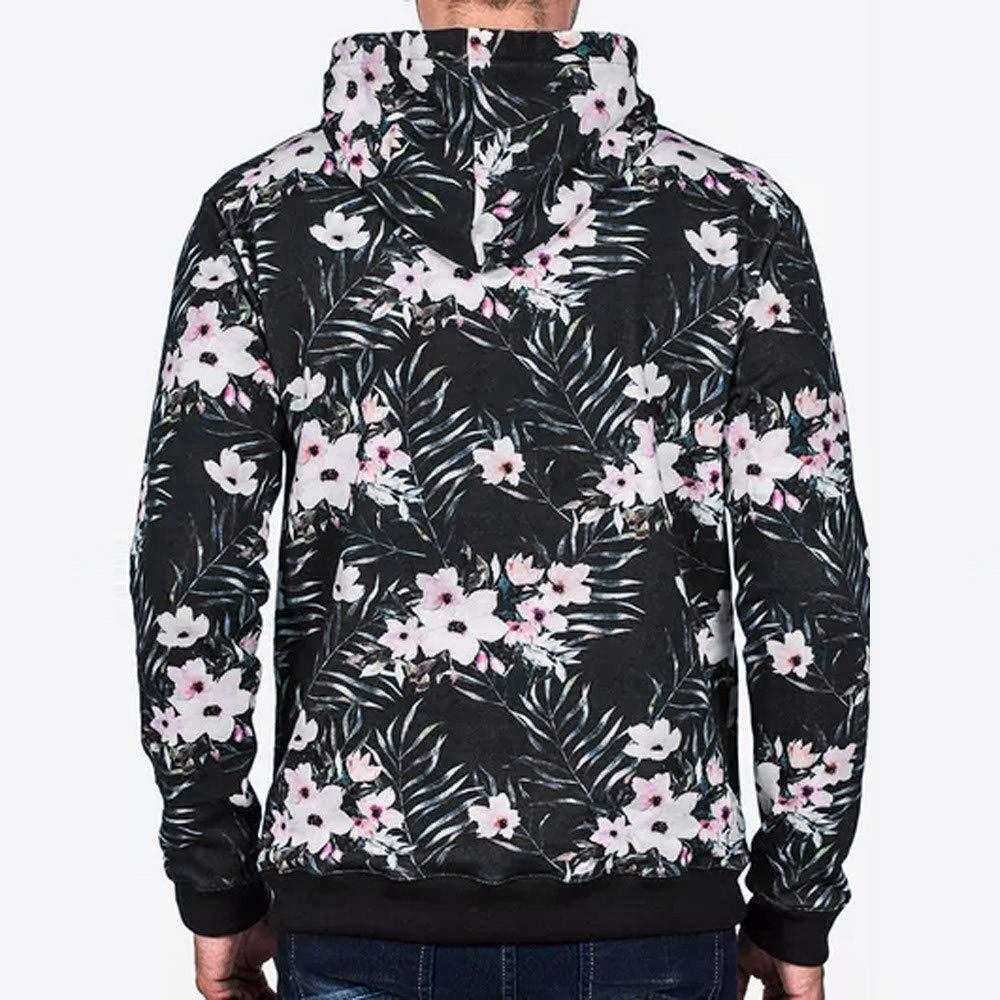 PASATO Mens Autumn Winter Print Hoodie Hooded Sweatshirt Tops Jacket Coat Outwear Clearance Sale