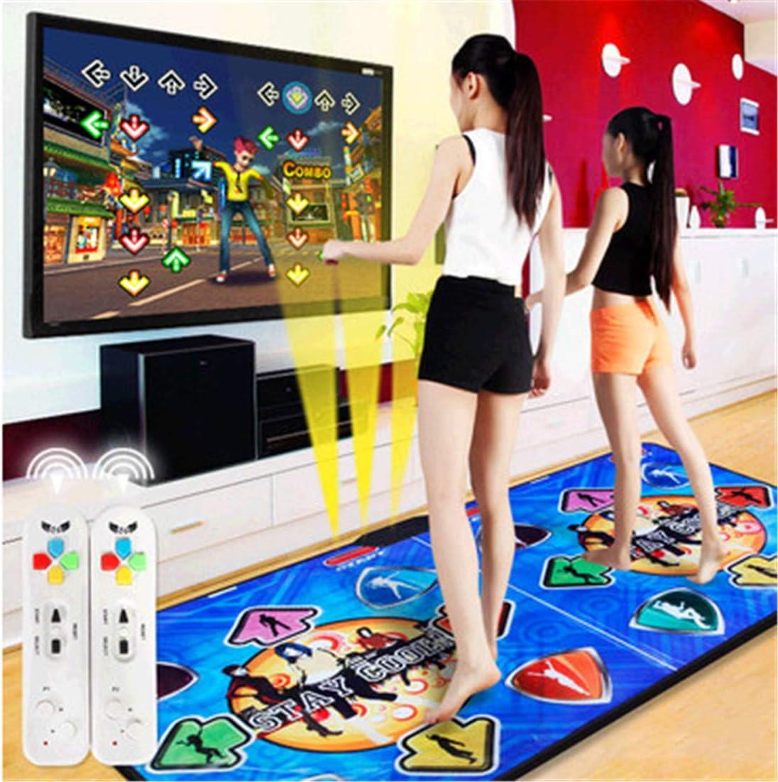 Skiout Wireless Double Dance Mats with Gamepad Dancing Blanket Dance Music Mixer Electronic Musical Play Mat for Adults//Children Tv Computer,B