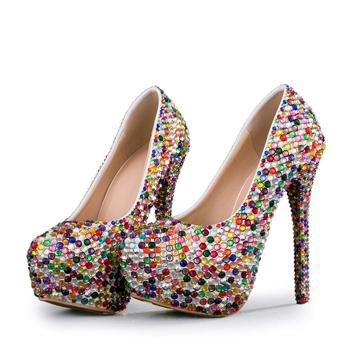 KPHY Damenschuhe/Diamant - Hochzeit - 14 cm Schuhe Schuhe Farbe Crash - Bohrer Hochzeit Schuhe Performance