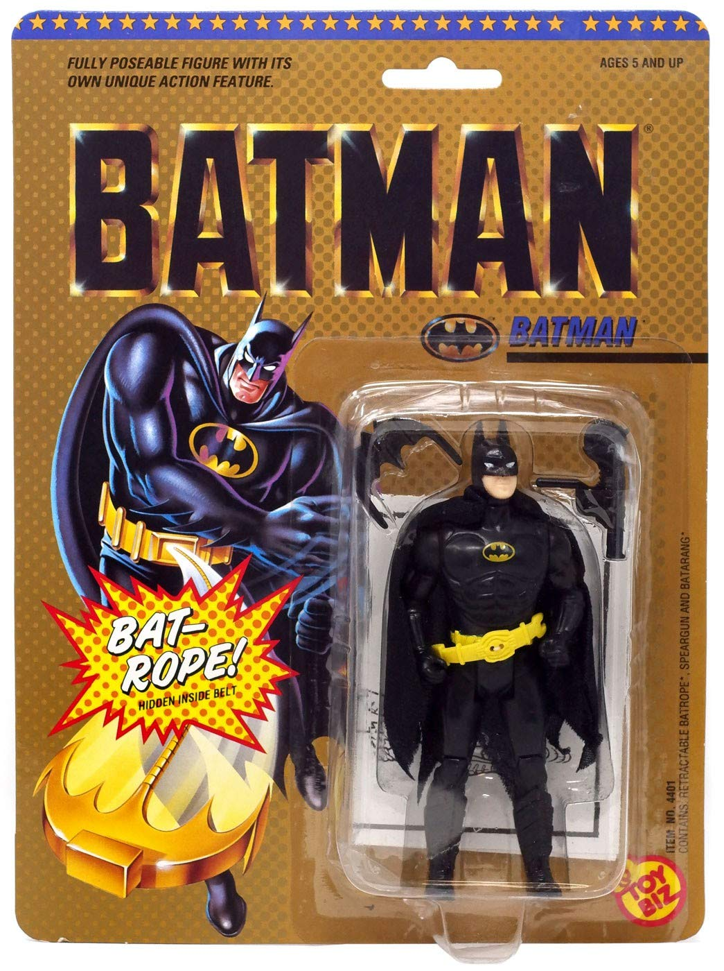 Batman Vintage 1989 Michael Keaton Movie Action Figure Toy Biz SG/_B000BN8UC6/_US