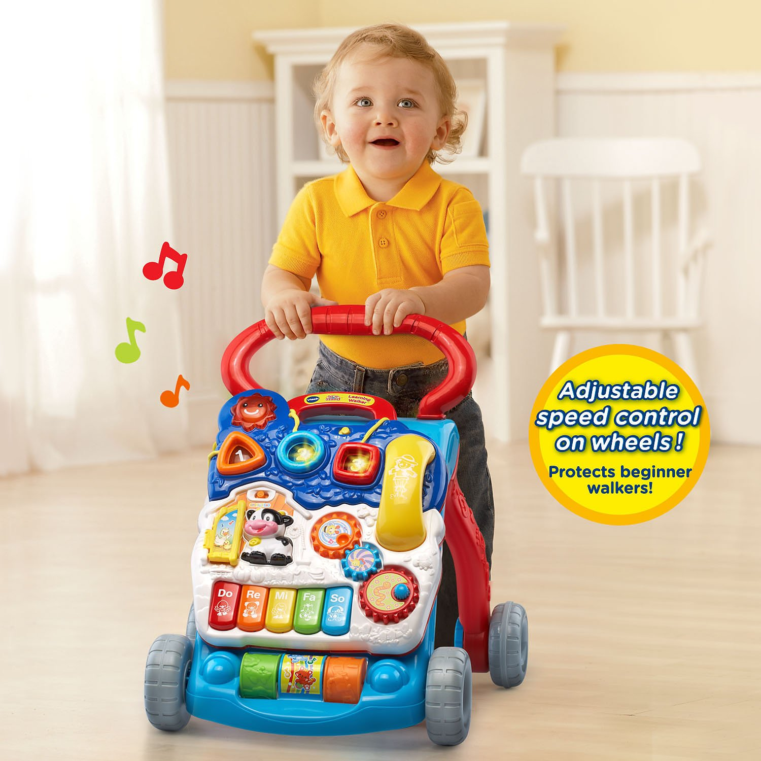 Amazon VTech Sit to Stand Learning Walker Blue line