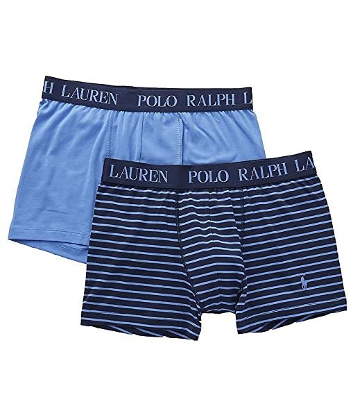 1f66ae9579137 Ralph Lauren Polo Men s 2-Pack Cotton Comfort Blend Pouch Boxer Briefs  Cruise Navy Harbour Island Stripe White Pony Print Harbour Islan Small   Amazon.co.uk  ...