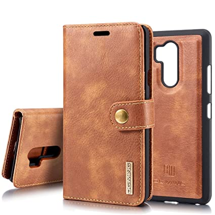 super popular cf812 225b0 LG G7 Case/LG G7 ThinQ Leather Wallet Case, ZHFLY Magnetic Closure  Detachable Slim-Case Lightweight with Classic Design Leather Case Cover for  LG ...