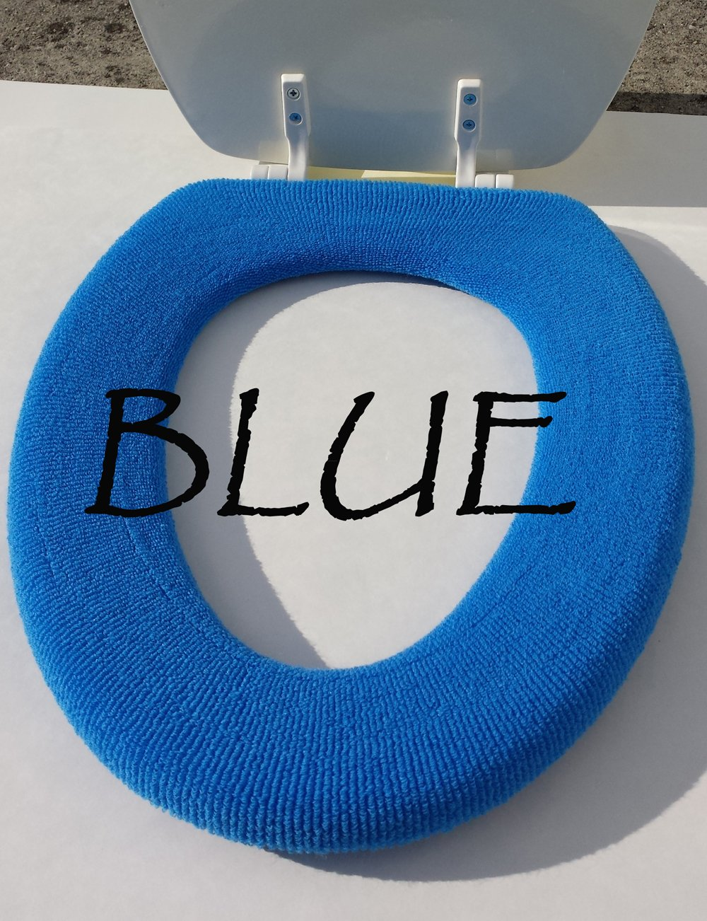 Bathroom Toilet Seat Warmer Cover Washable  Black      Amazon com. Royal Blue Toilet Seat. Home Design Ideas