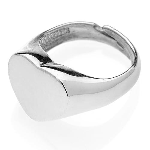 comprare popolare f698a 1c20d Anello chevalier Cuore in argento 925 #MS092AN