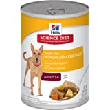 Hills Science Diet Adult Savory Stew with Chicken & Vegetables Canned Dog Food, 363g, 12 Pack