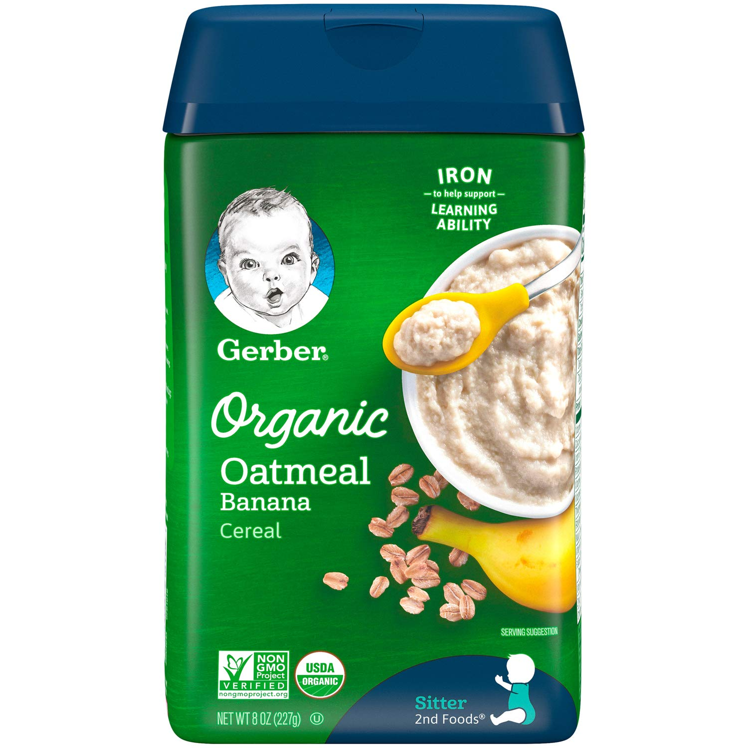 Gerber Baby Cereal Organic Oatmeal with Banana, 8 oz by Gerber Baby Cereal