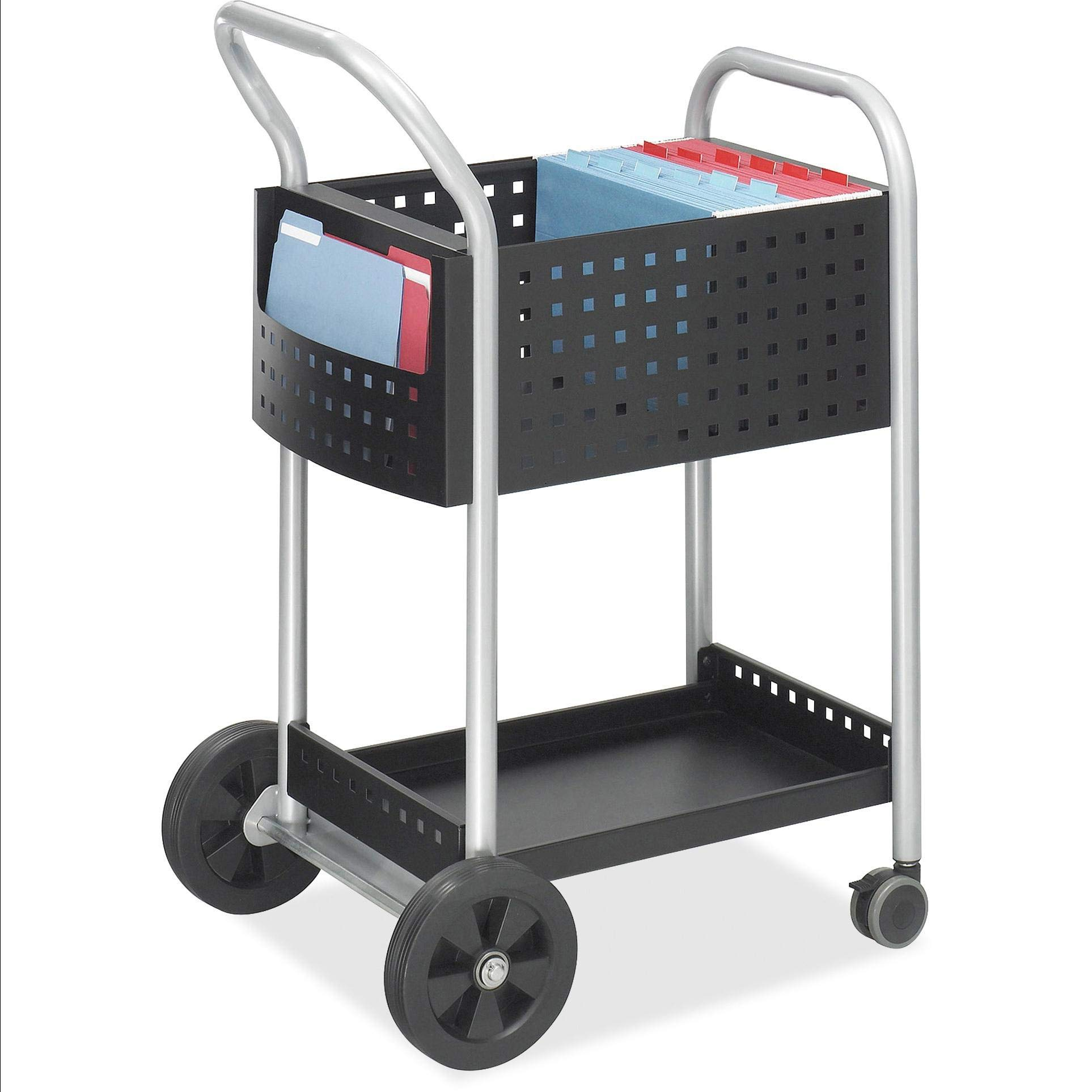 Scoot Mail Cart, 1 / Each, Black,Silver