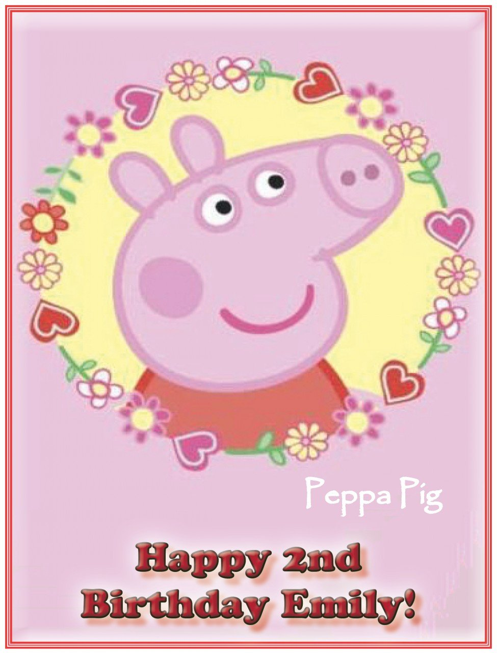 single source party supplies peppa pig cake edible icing image