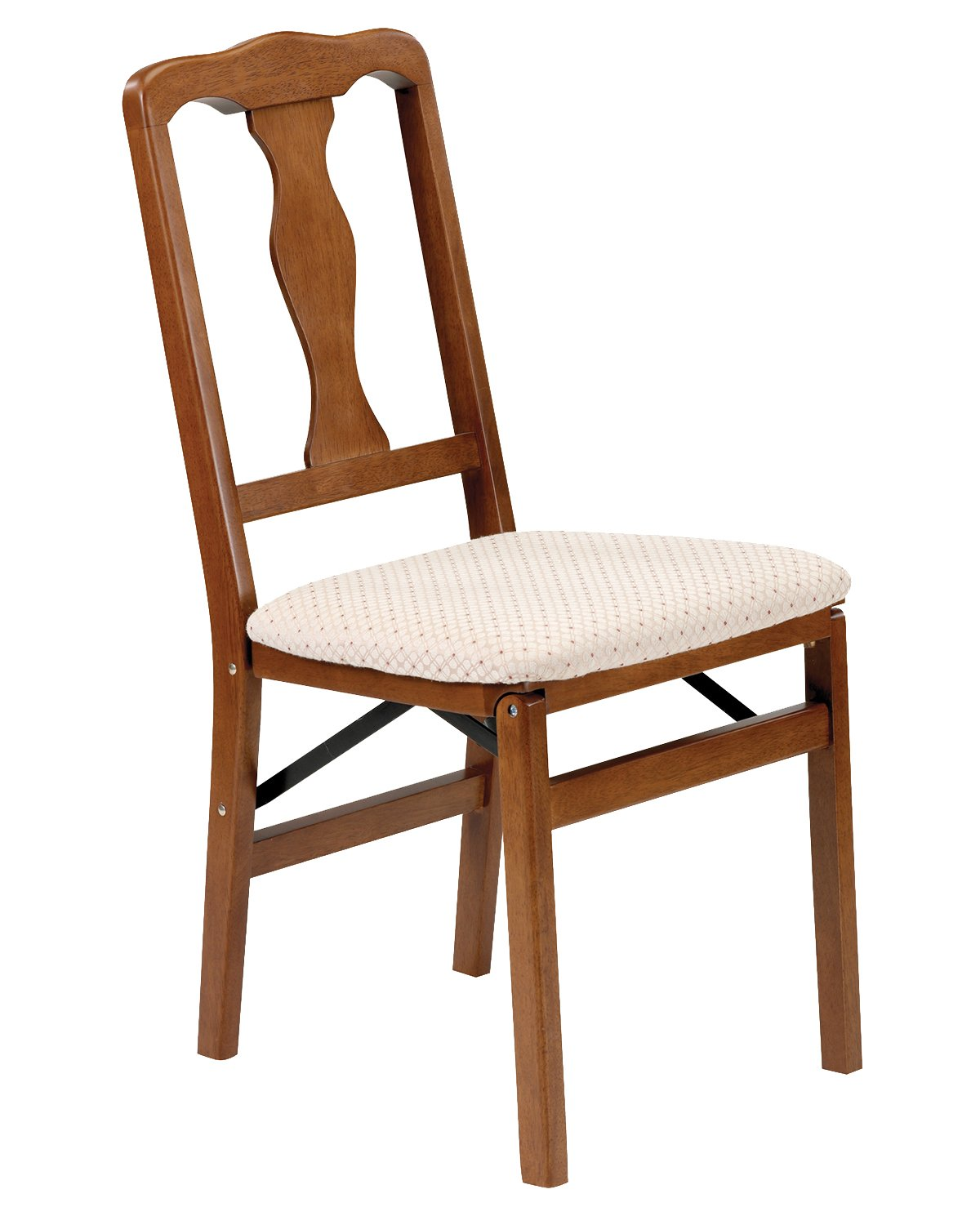 Stakmore Queen Anne Folding Chair Finish, Set of 2, Fruitwood
