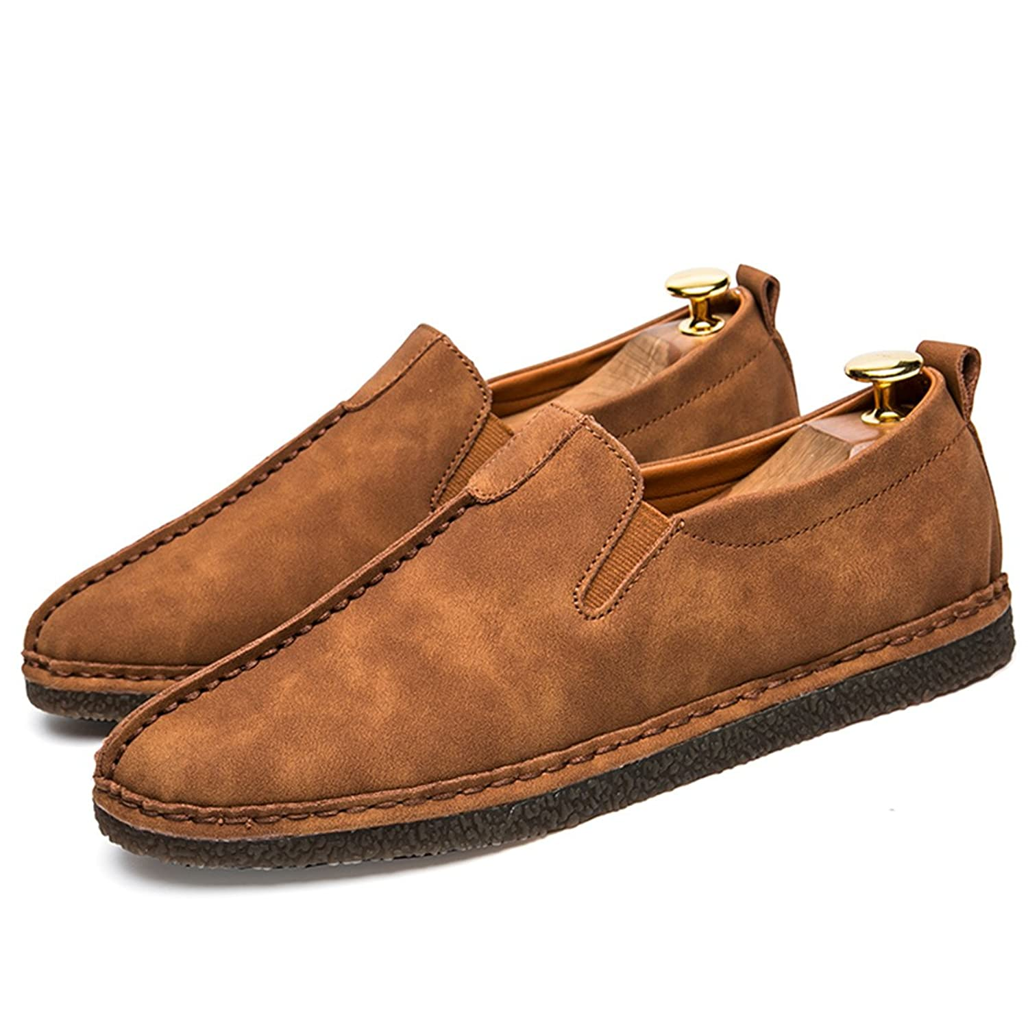 Men's Manual Casual Shoes Slip-on Monk Shoes Fashion Men Shoes Loafers