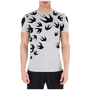 26b9c8f45 Amazon.com: McQ Alexander McQueen Men t-Shirt Swallow Mercury ...
