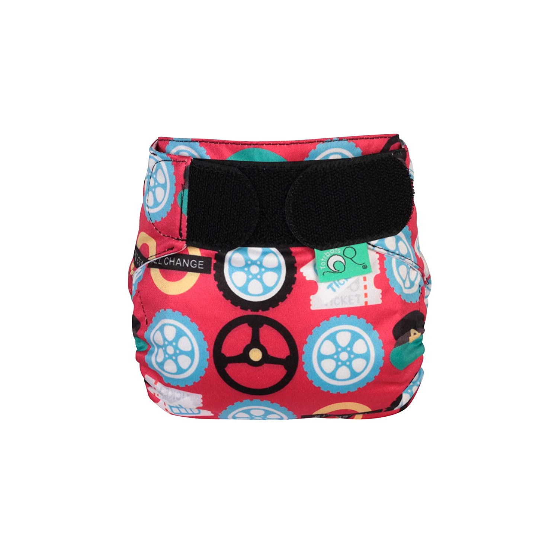 TotsBots TeenyFit Star Wheels on The Bus Cloth Nappies