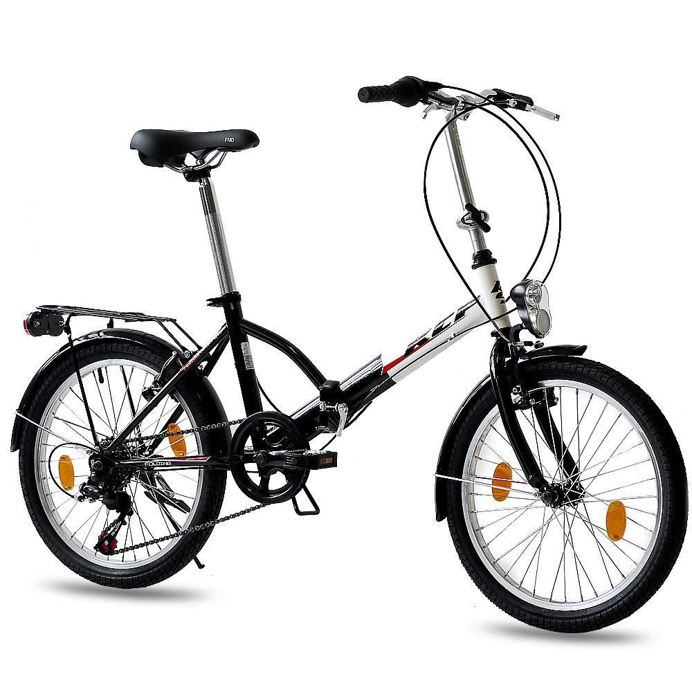 Leader 20 Inch Folding Bike City Bike FOLDO 6 Speed Shimano ...