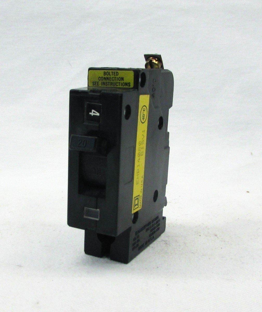 Square D EHB14020 Circuit Breaker, EHB Type, 20-Amp, 1-Pole, 277VAC