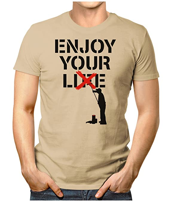 PRILANO Herren Fun T-Shirt - ENJOY-YOUR-LIE - Small bis 5XL - NEU:  Amazon.de: Bekleidung