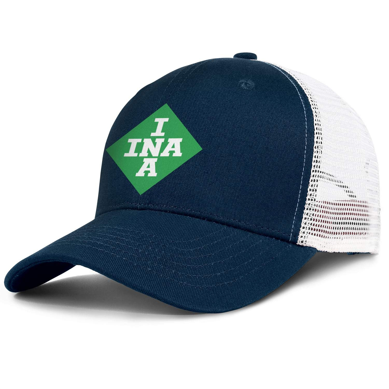 COOLGOOD INA Logo Men Womens Mesh Back Trucker Caps Printed Mesh Cap