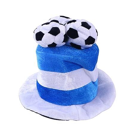 BESTOYARD Sombrero de Bandera Fútbol Cumpleaños Gorros de ...