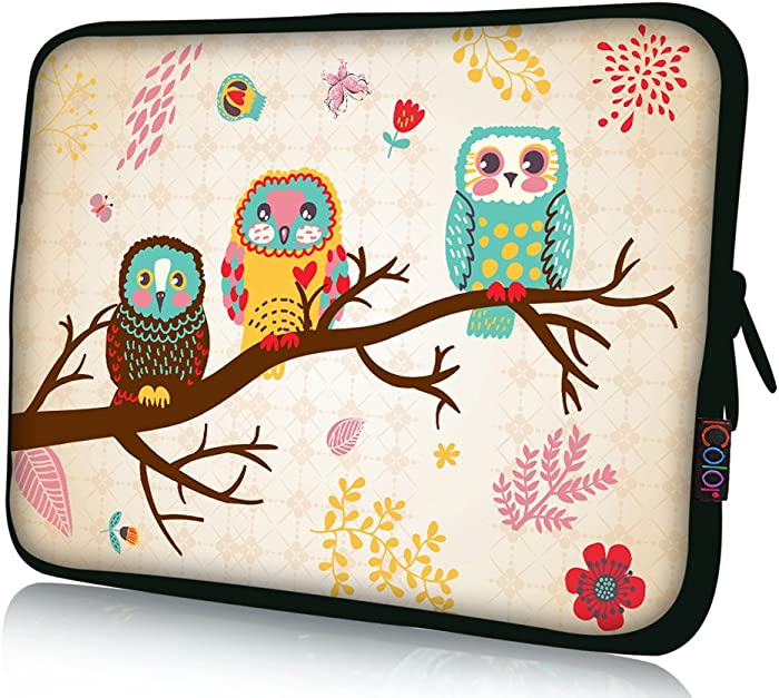 iColor 11 11.6 12.1-inch Laptop-Case Bag - Notebook Chromebook Case Ultrabook Bag Sleeve Computer Protective Cover Carrier Pouch-Owl
