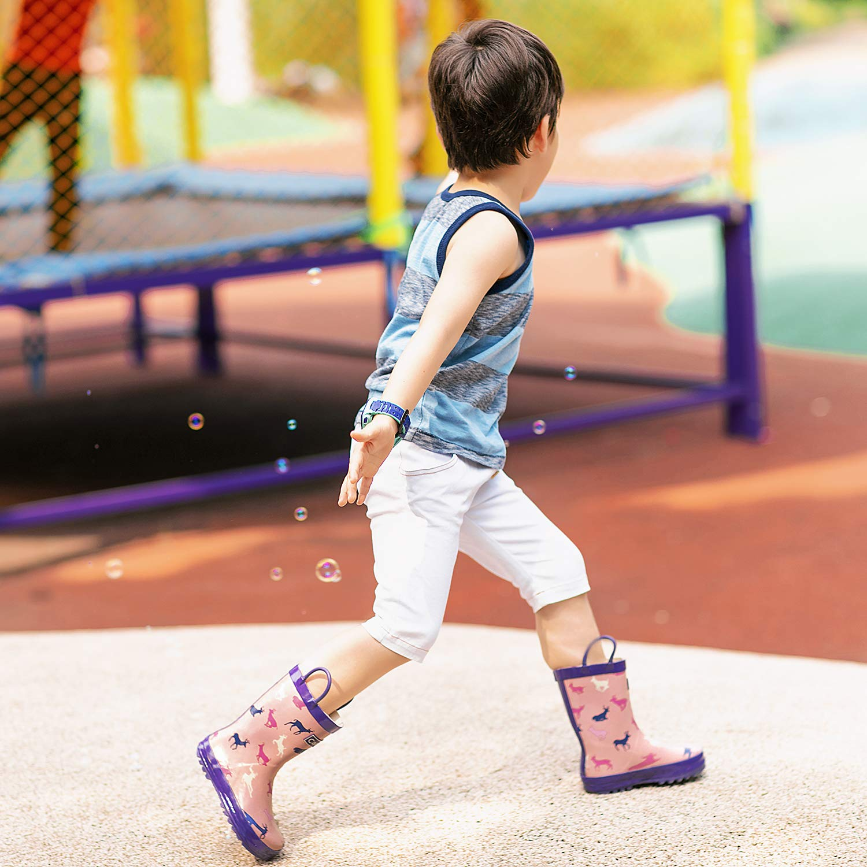 CasaMiel Kids Rain Boots for Toddlers Unisex Rain Boots for Boys/&Girls Handmade Natural Rubber Boots for Children