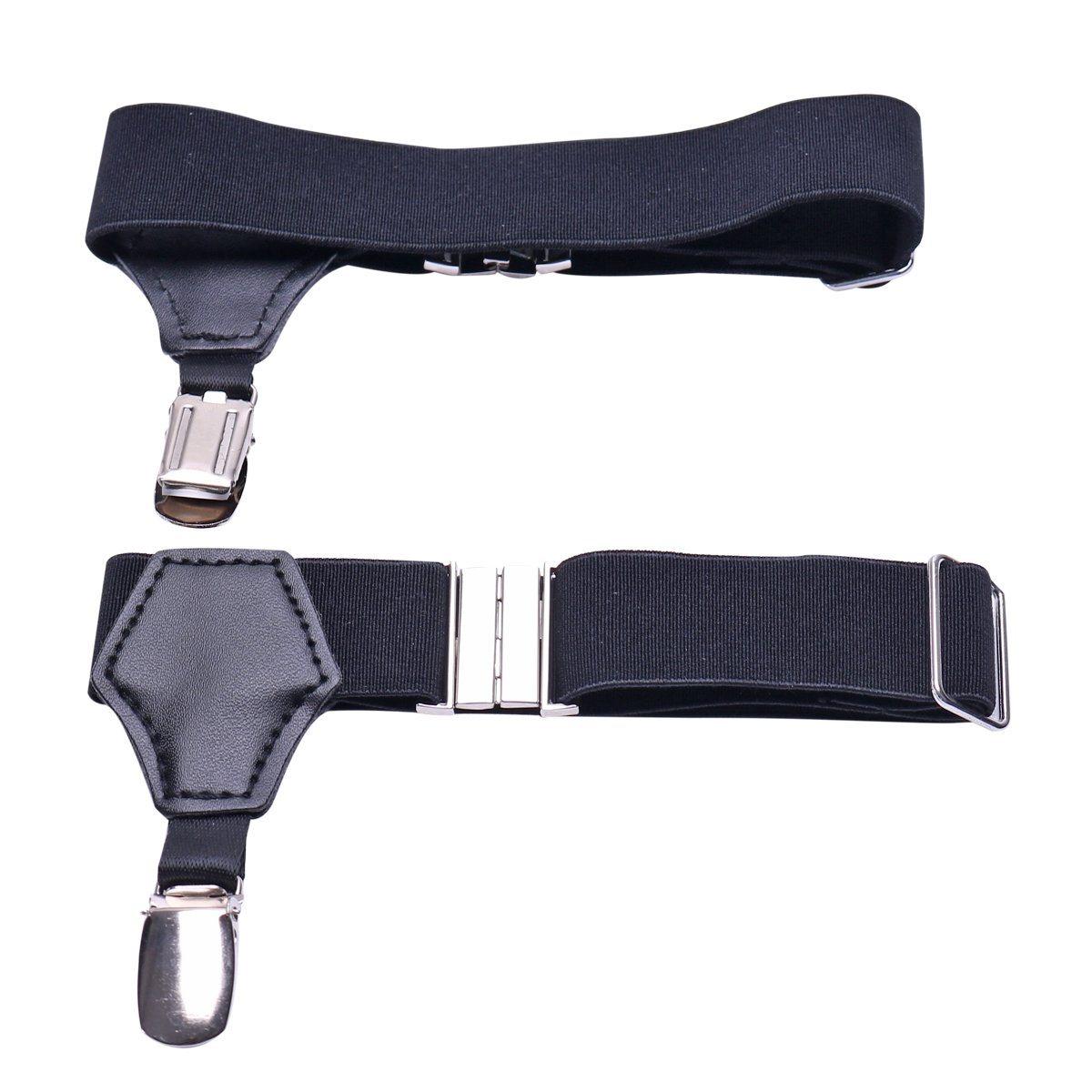 5c78a69a375 iiniim Men s Non-slip Sock Garter Belt Holders Suspender Strap with Metal  Clips at Amazon Men s Clothing store