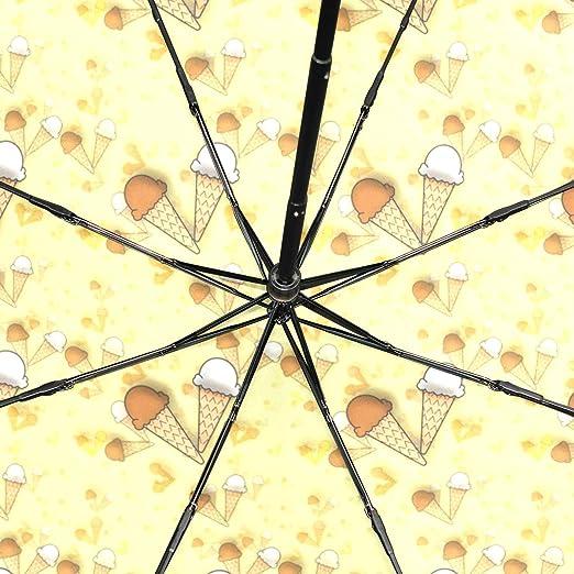 Amazon.com: Yellow Post It Notes Ice Cream Travel Umbrella ...