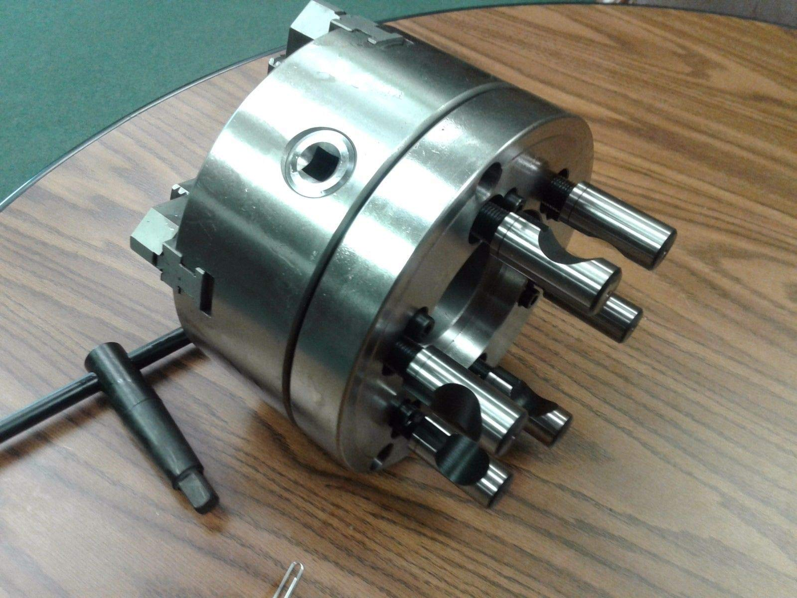 8'' 4-Jaw Self-Centering Lathe Chuck top&Bottom Jaws w. D1-6 Adapter Plate-New by CME (Image #3)