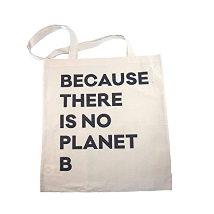 HÅLM Bolsa de Yute con Texto Because There is no Planet B ...