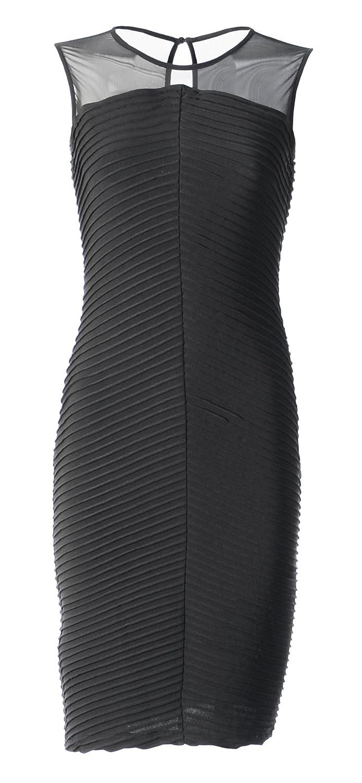 Calvin Klein Womens Matte Jersey Knee-Length Cocktail Dress Black 10