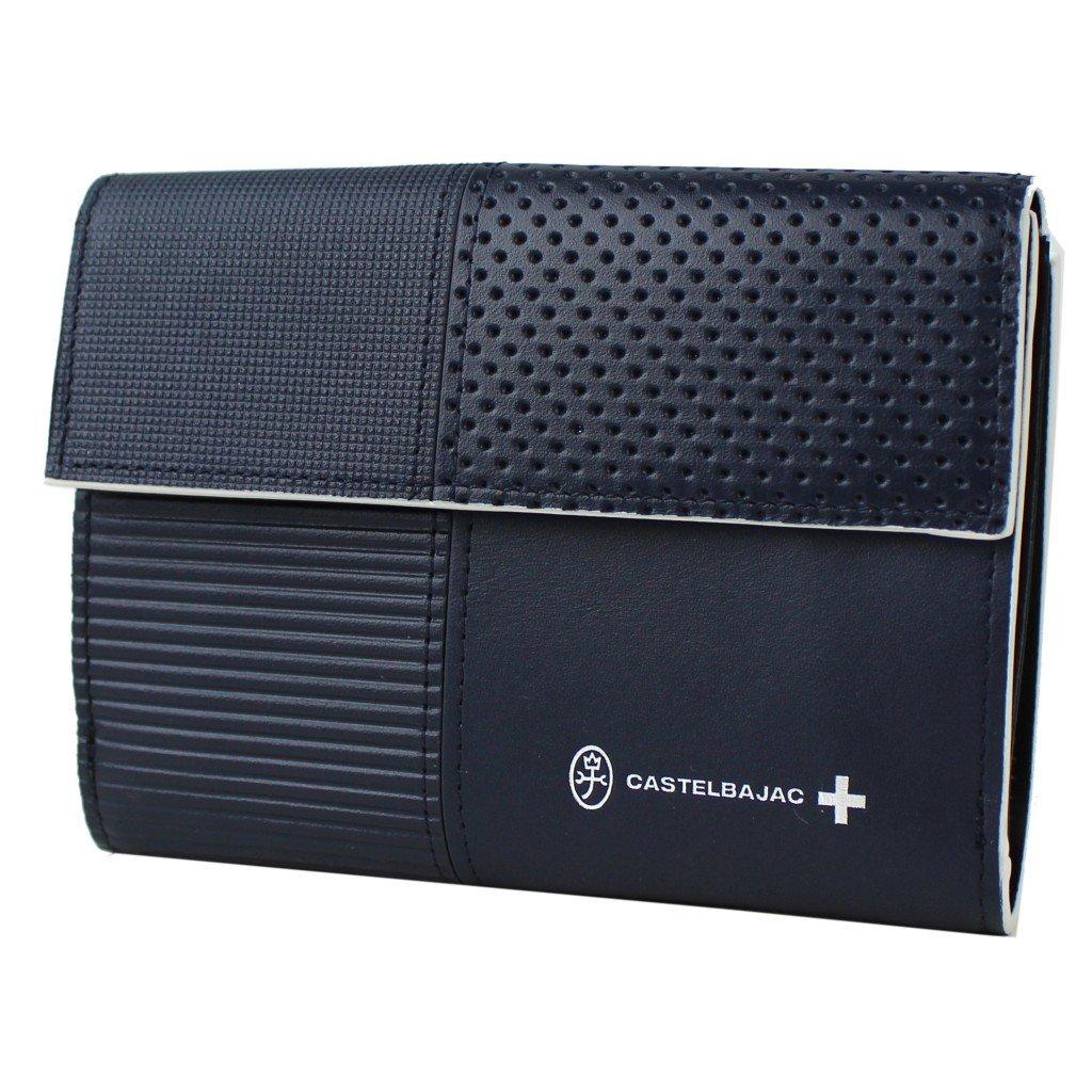 カステルバジャック CASTELBAJAC 二つ折り外 小銭入れ付き財布 Coupe (クープ) 098605 B0776WVR2N ネイビー ネイビー