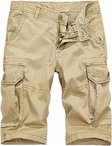 ECYC Cargo Shorts Hombre Summer Cool, AlgodóN Casual Camouflage ...
