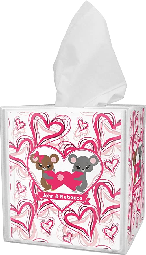 Día de San Valentín caja de pañuelos cover (personalizado)