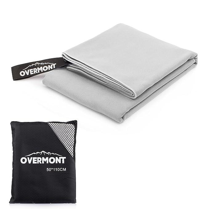 Overmont Toalla Deportiva Secado rápido de Microfibra Super Absorbente, Ideal para Deportes, Viajes, Playa,natación,M/L: Amazon.es: Electrónica
