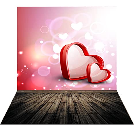 SJOLOON 5x7ft Valentine S Day Background Red Heart Love