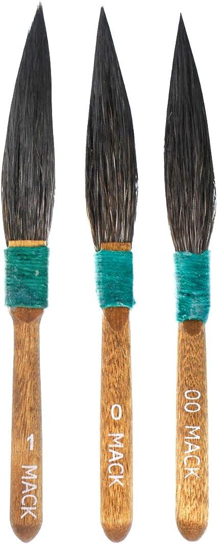 Amazon Com Mack 30 Series Squirrel Hair Dagger Striper Pinstriping Brushes Set Of 3 Brushes