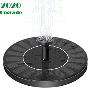 MADETEC Solar Powered Water Fountain Pump, Submersible Outdoor Water Fountain Panel Kit for Bird Bath,Small Pond,Pool,Garden and Lawn (1.4W)